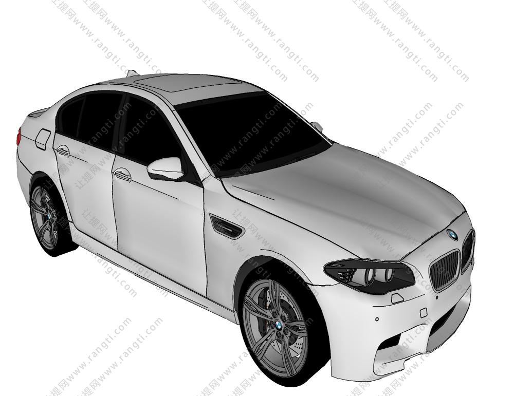 汽车奔驰跑车SU模型下载