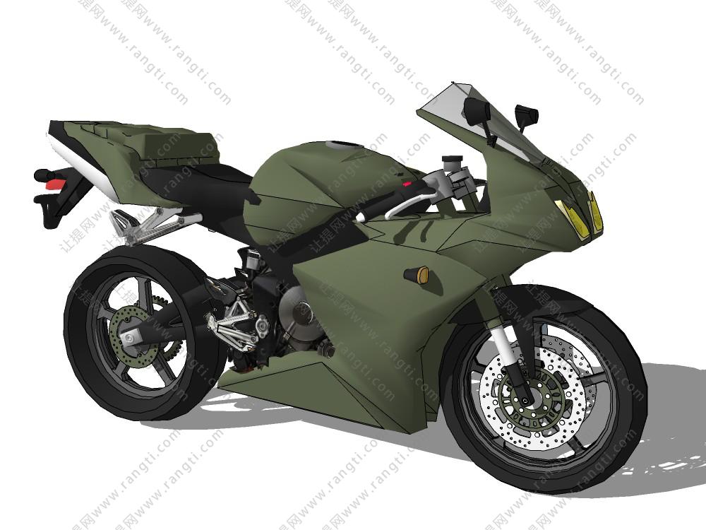 军用摩托车SU模型下载