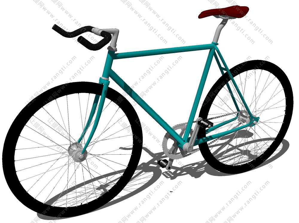 自行车赛车山地车SU模型下载