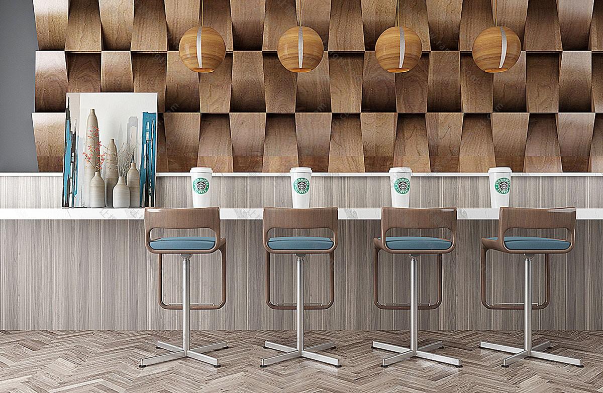 现代转椅、吧椅3D模型