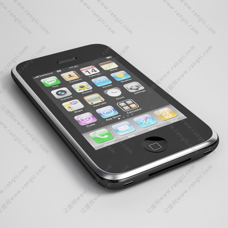 智能手机3D模型