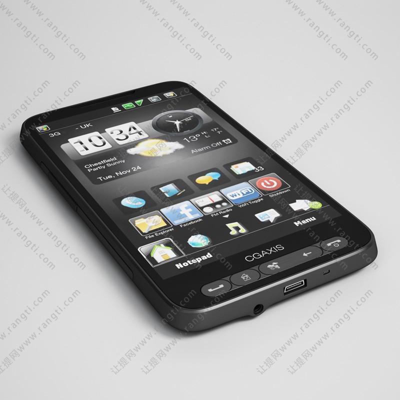 Android系统手机3D模型