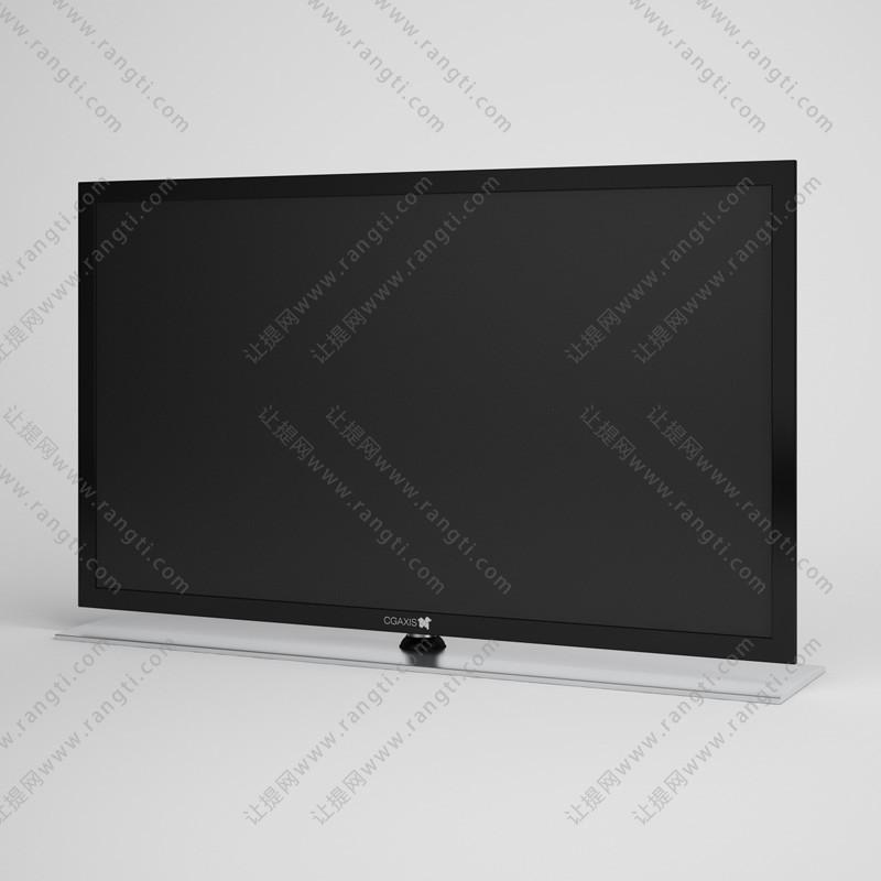 黑色电视机3D模型