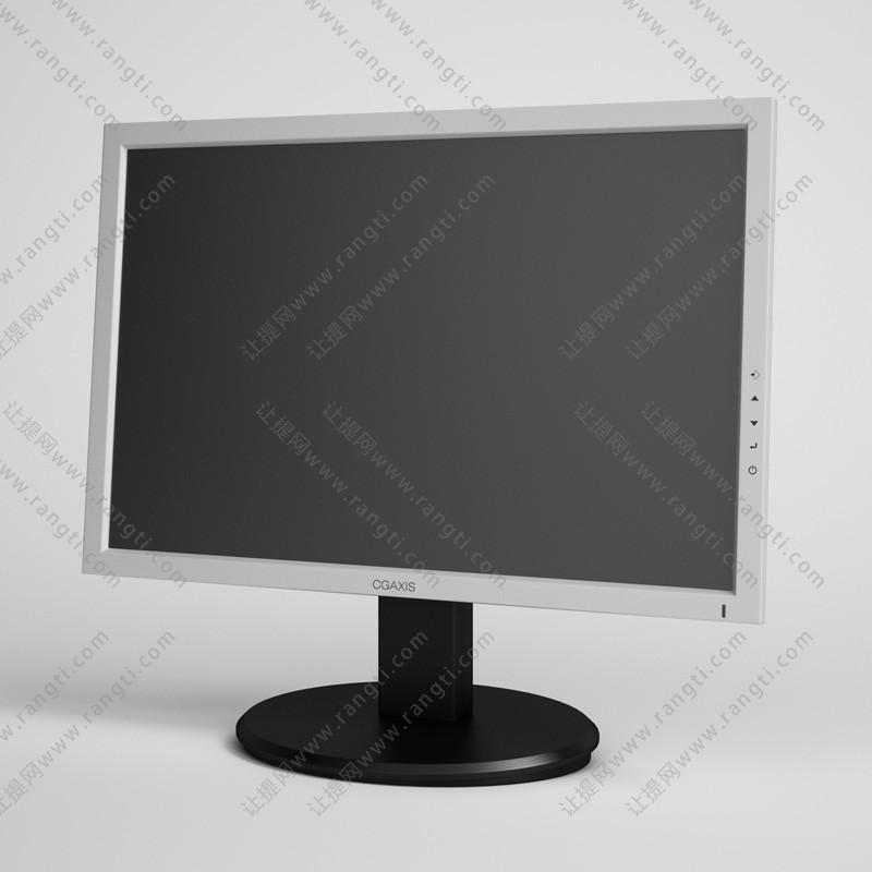 白色边框电脑显示屏3D模型