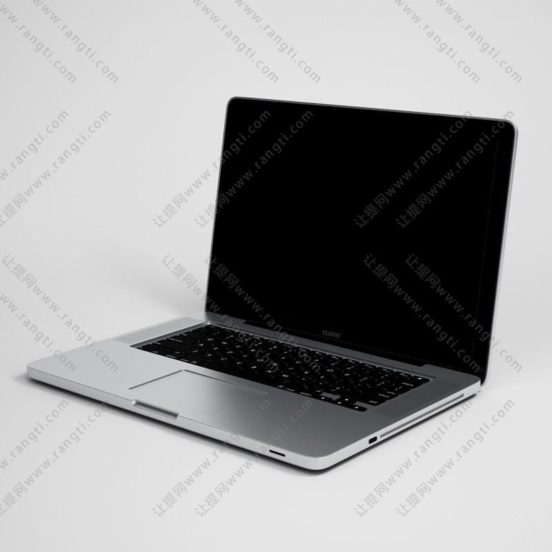 金属外壳笔记本电脑3D模型