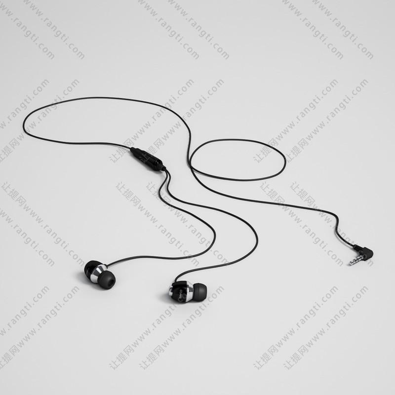 简约型耳机3D模型