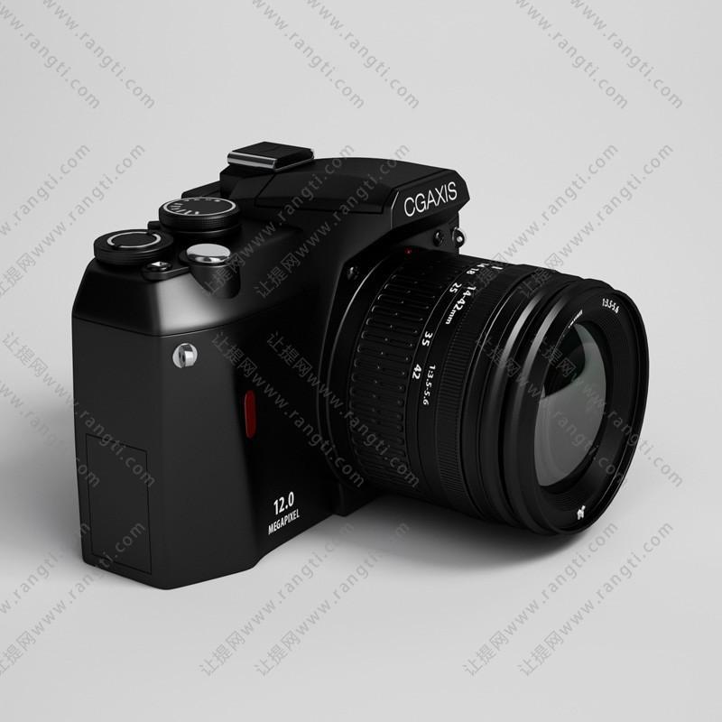 黑色调焦相机3D模型