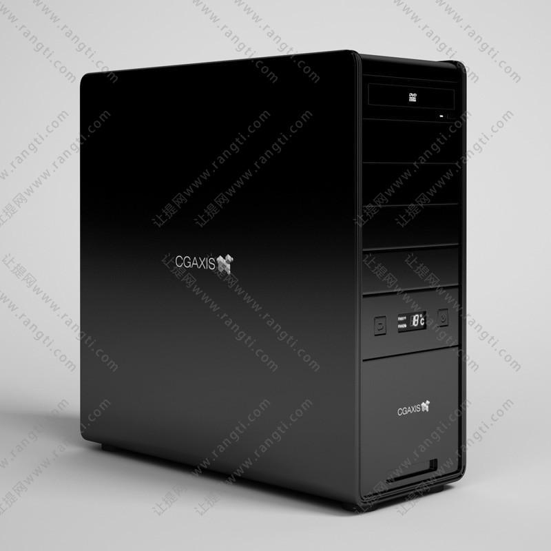 黑色电脑主机箱3D模型