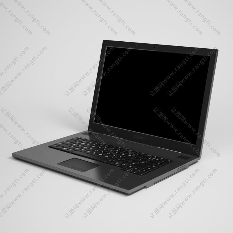 笔记本电脑3D模型