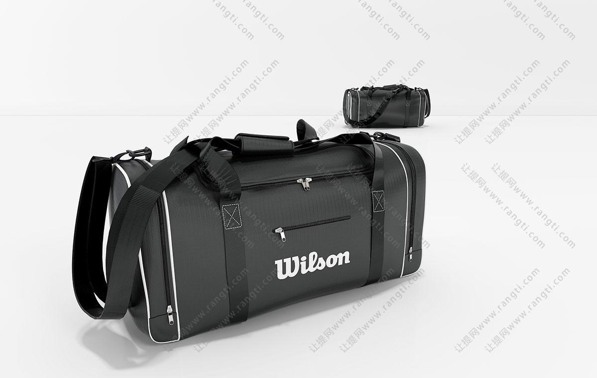 现代旅行包、休闲包3D模型